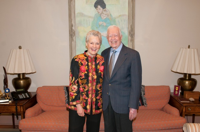 President Carter and Ambassador Swanee Hunt at World Summit: End Sexual Exploitation 2025